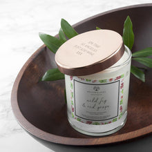 Load image into Gallery viewer, Personalised Wild Fig & Red Grape Candle With Copper Lid - One of a Kind Gifts UK