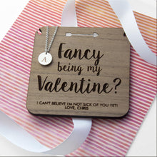 Load image into Gallery viewer, Personalised Will You Be My Valentine Necklace & Keepsake - One of a Kind Gifts UK