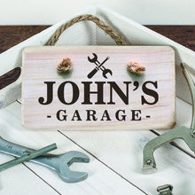 Load image into Gallery viewer, Personalised Wooden Garage Sign - One of a Kind Gifts UK