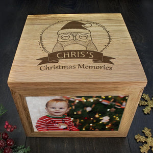 Personalised Woodland Owl Christmas Christmas Memory Box - One of a Kind Gifts UK
