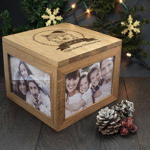 Personalised Woodland Wolf Christmas Memory Box - One of a Kind Gifts UK