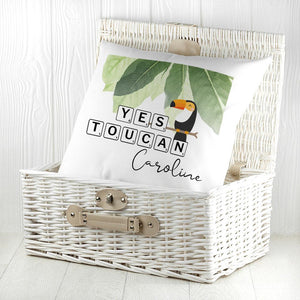 Personalised Yes Toucan Cushion Cover - One of a Kind Gifts UK