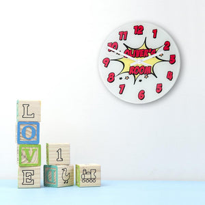 Pow! Personalised Comic Wall Clock - One of a Kind Gifts UK