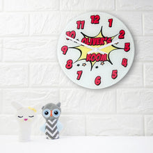 Load image into Gallery viewer, Pow! Personalised Comic Wall Clock - One of a Kind Gifts UK