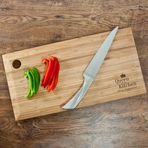 Queen of the Kitchen Chopping Board - One of a Kind Gifts UK