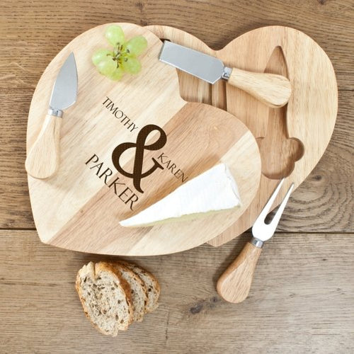 Romantic Heart Cheese Set - One of a Kind Gifts UK