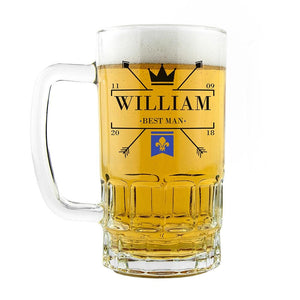 Royal Emblem Wedding Tankard - One of a Kind Gifts UK