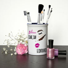 Load image into Gallery viewer, She Came She Saw She Contoured Personalised Make Up Brush Holder - One of a Kind Gifts UK