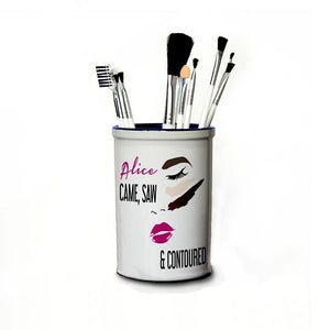 She Came She Saw She Contoured Personalised Make Up Brush Holder - One of a Kind Gifts UK