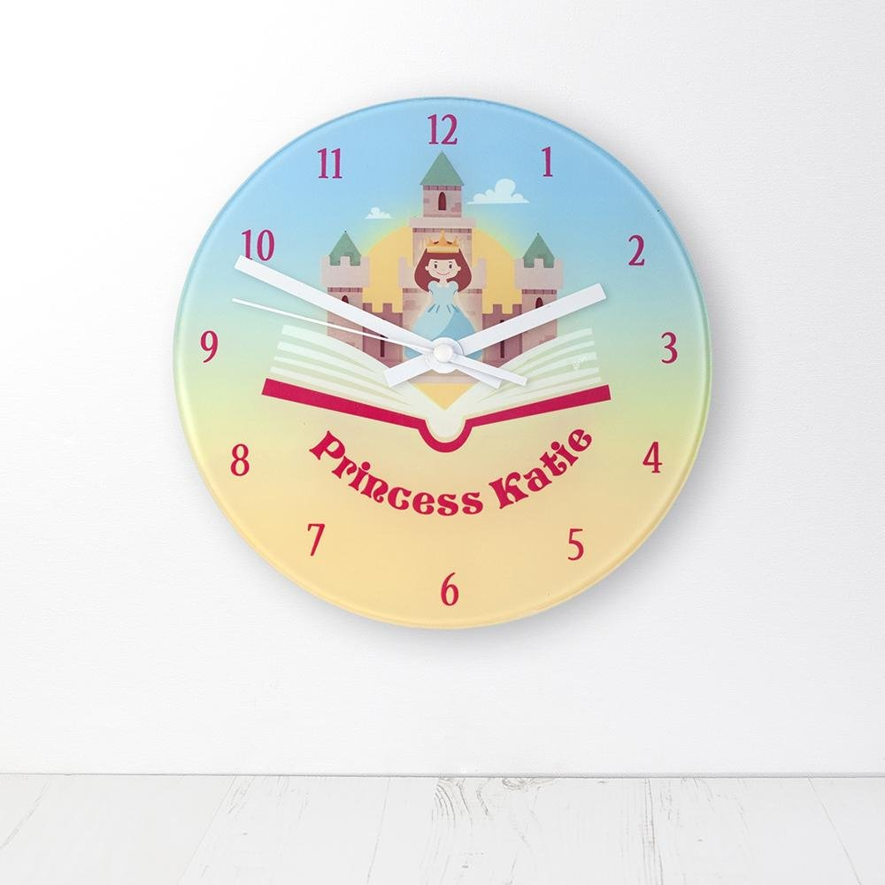 Storybook Princess Personalised Wall Clock - One of a Kind Gifts UK