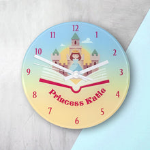 Load image into Gallery viewer, Storybook Princess Personalised Wall Clock - One of a Kind Gifts UK