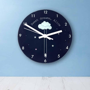 Sweet Dreams Little One Personalised Wall Clock - One of a Kind Gifts UK