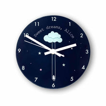 Load image into Gallery viewer, Sweet Dreams Little One Personalised Wall Clock - One of a Kind Gifts UK
