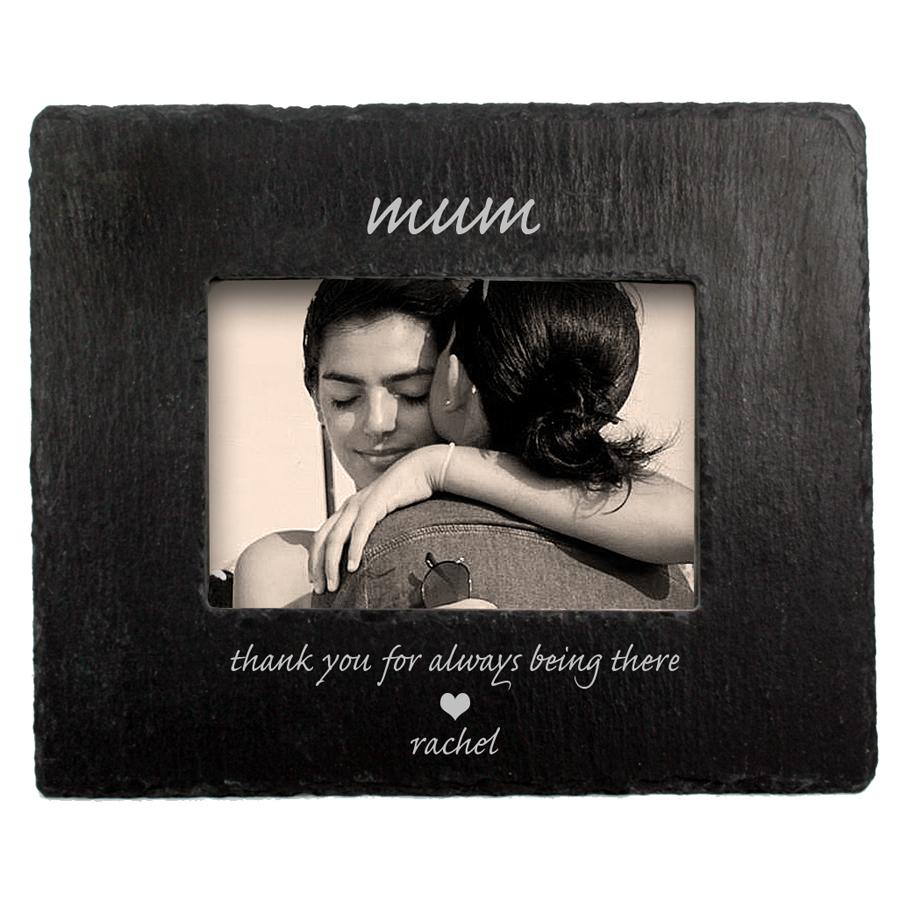 Thank You Mum Slate Photoframe - One of a Kind Gifts UK