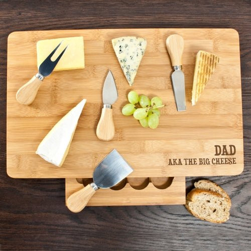 The Big Cheese Large Bamboo Cheese Board - One of a Kind Gifts UK