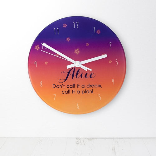 The Desert At Dusk Personalised Wall Clock - One of a Kind Gifts UK