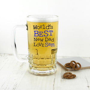 World's Best New Dad Tankard - One of a Kind Gifts UK