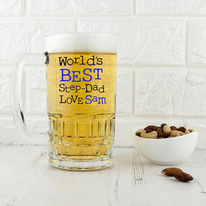 World's Best Step-Dad Tankard - One of a Kind Gifts UK