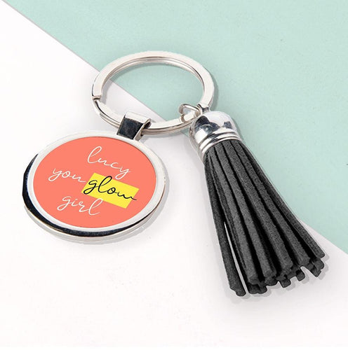 You Glow Girl Tassel Keyring - One of a Kind Gifts UK