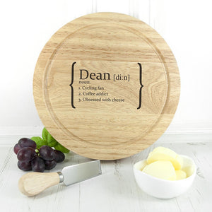 Your Definition Cheese Board Set - One of a Kind Gifts UK