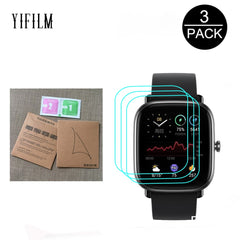 3 films de protection plein écran pour Huami AMAZFIT GTS 2 GTS2 Mini SmartWatch 0.08MM, Film transparent TPU Hydrogel HD, pas du verre