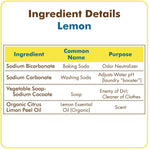 Meliora Laundry Powder - Lemon - Instructions