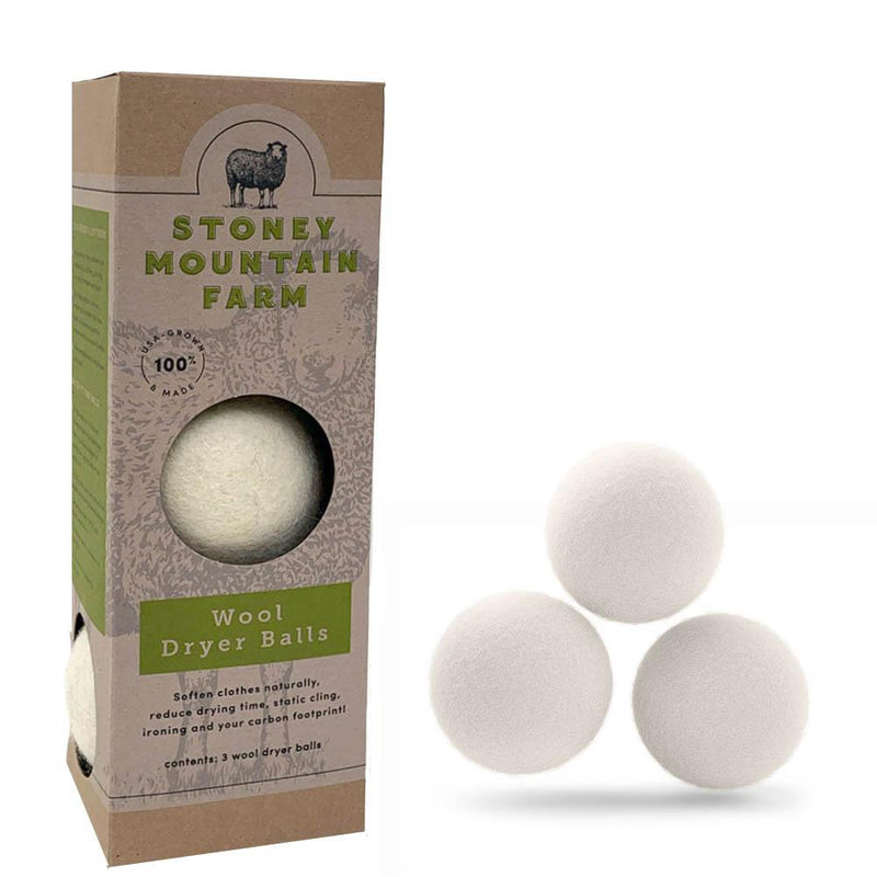 Made in America - Wool Dryer Balls - Stoney Mountain Farm