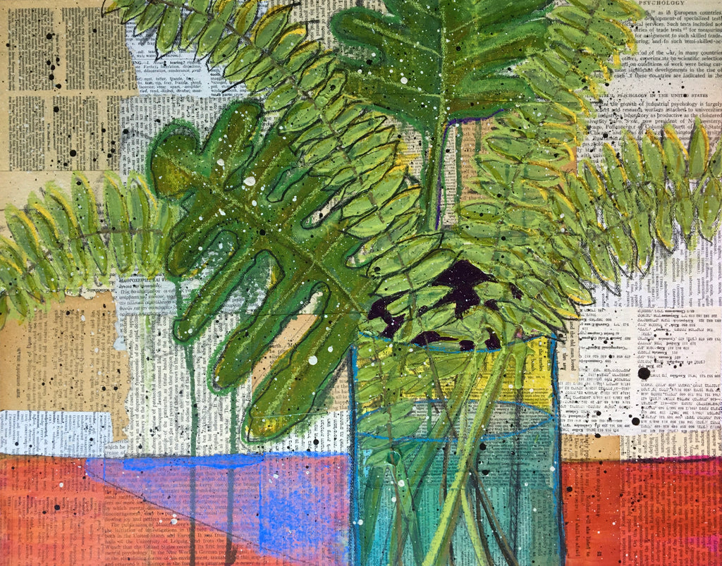 Favorite Ferns -20x16 - by Nina Chatham