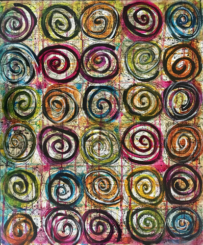 Swirls of Joy - 20x24 - by Nina Chatham