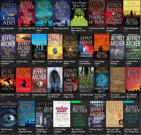 Jeffrey Archer Ebook Collections (Available in ePub/Mobi and PDF formats)