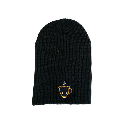 Black Bear Cub Coffee Slouch Beanie Toque