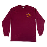 Burgundy Bear Cub Coffee Long Sleeve Tee