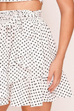 White & Black Polka Dot Asymmetric Co-ord
