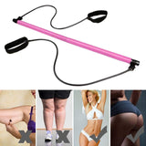 Pilates Booty Flex Bar Resistance Bands Fitness Gym Equipment Fitness Yoga Exercise Bands Workout Crossfit Bodybuilding Seeknfind