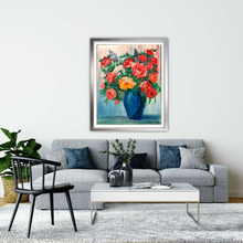 Load image into Gallery viewer, Bouquet In a Blue Vase