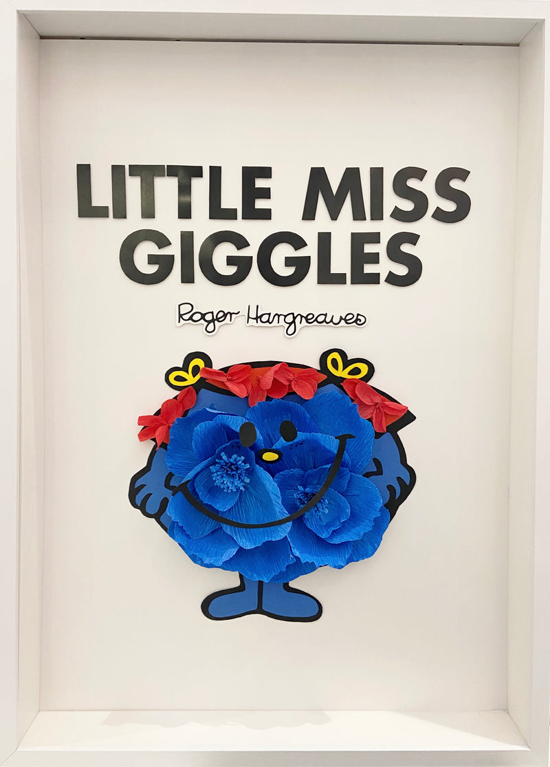 LITTLE MISS GIGGLES PAPER FLOWER ART