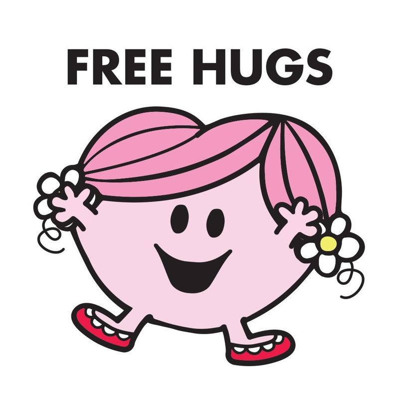 "LITTLE MISS HUG ""FREE HUGS"" CARD"