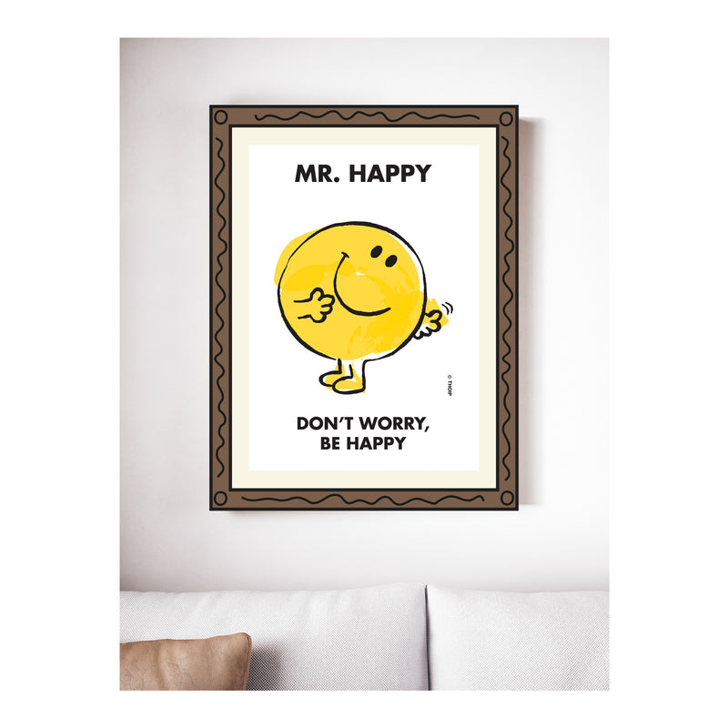 MR. HAPPY WATERCOLOUR ART PRINT