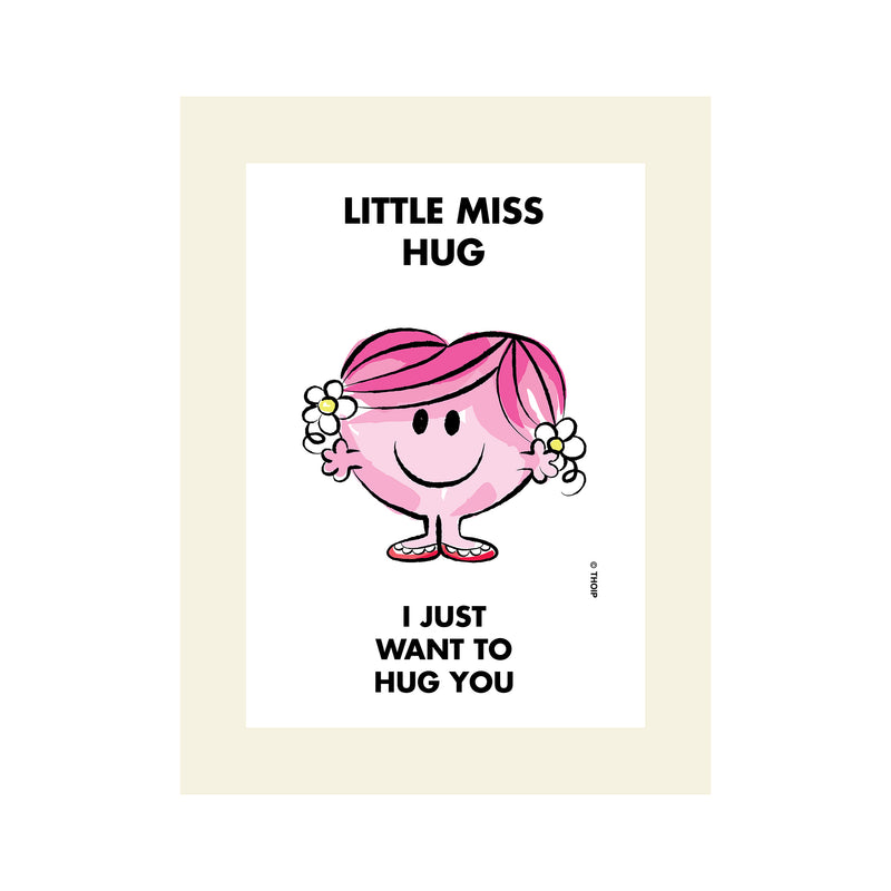 LITTLE MISS HUG WATERCOLOUR ART PRINT