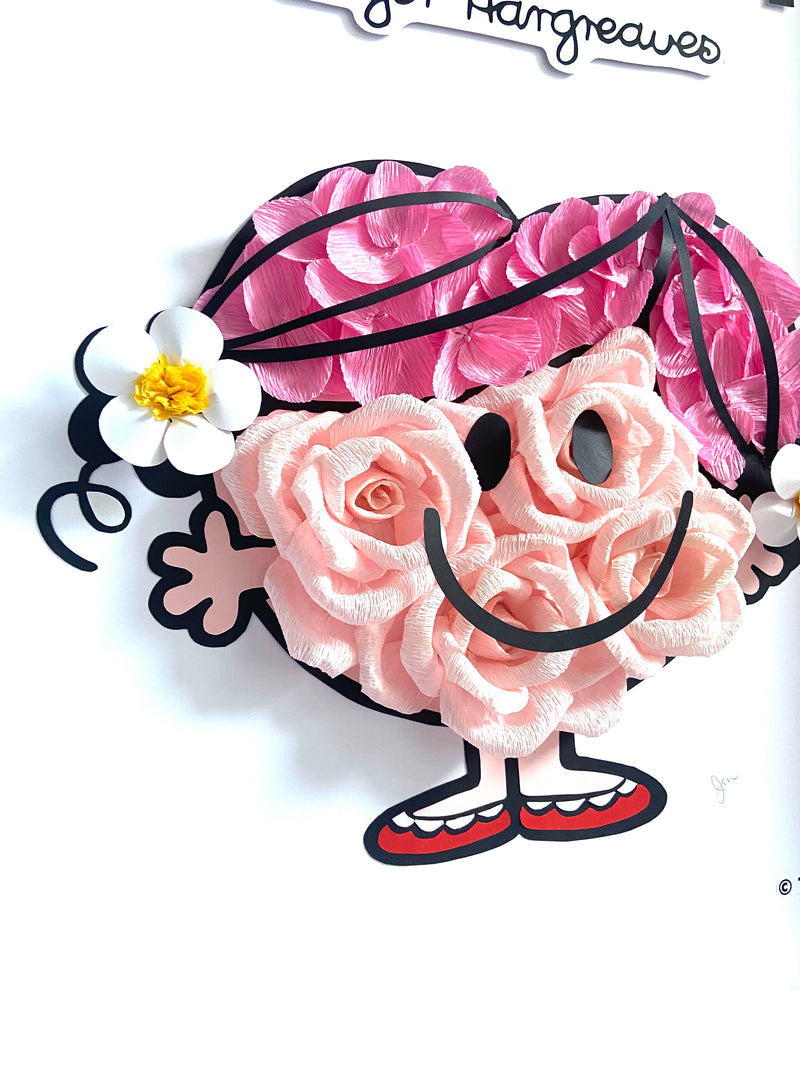 LITTLE MISS HUG PAPER FLOWER ART