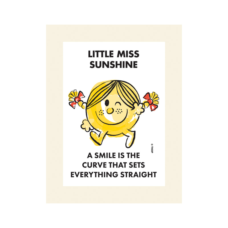 LITTLE MISS SUNSHINE WATERCOLOUR ART PRINT
