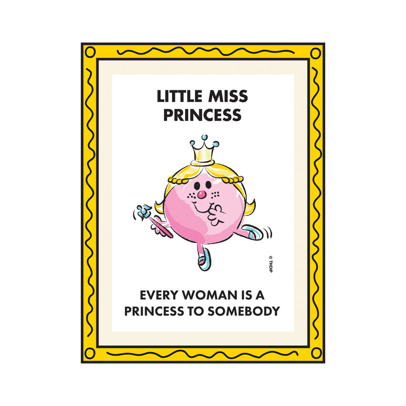 LITTLE MISS PRINCESS WATERCOLOUR ART PRINT