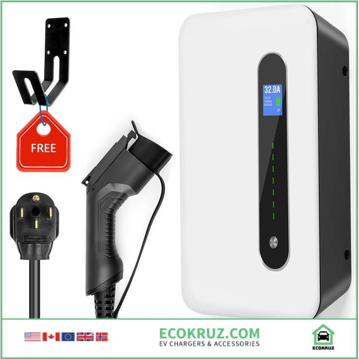 Type 1 Level 2 EV Charging Station BMW i3 Wall Mounted 32A 220-240V NEMA - EV Chargers and Accessories