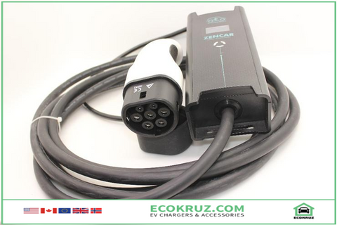 Portable IEC 62196-2, Type 2 plug, adjustable current EVSE 8A 10A 16A 5M VW e-Golf EV Charger - EV Chargers and Accessories
