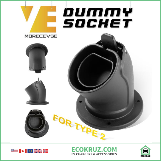 Level 2 EV Charger Socket Plug for Type2 EVSE IEC 62196-2 Cable Waterproof - EV Chargers and Accessories