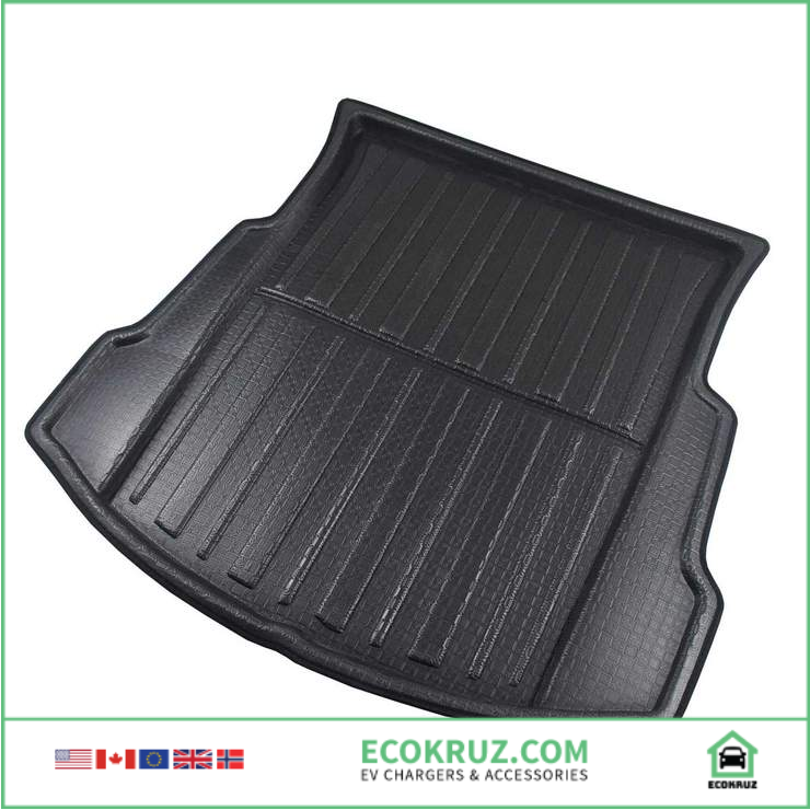 Tesla Model 3 Cargo Liner for Rear Trunk Cover Floor Non-slip and Waterproof - EV Chargers and Accessories