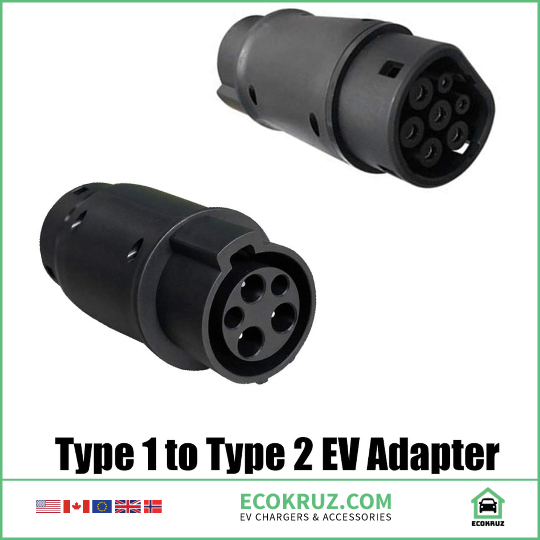 32A Type 1 to Type 2 Electric Vehicle Charger (SAE J1772 to IEC62196) EV adapter Mini Cooper