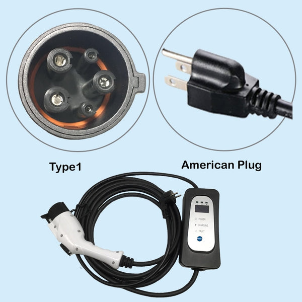 Hyundai IONIQ PHEV EV charger type 1 level 2 NEMA 18 foot cable AC 110V-250V - EV Chargers and Accessories