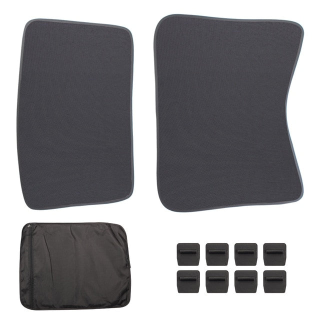 Sunroof Sunshade Tesla Model 3. Front and Rear SunShade For Tesla Accessories Glass Roof Sunshade - EV Chargers and Accessories