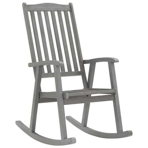 Rocking Chair Grey Solid Acacia Wood
